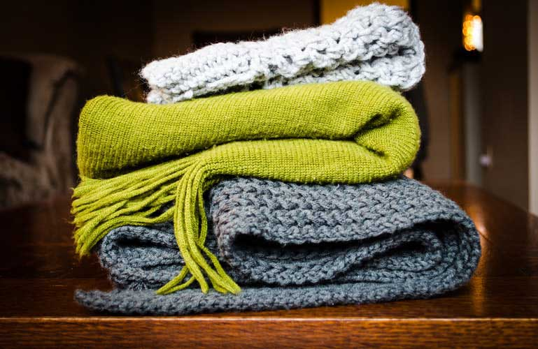 Blankets to keep you warm when the central heating in Edinburgh