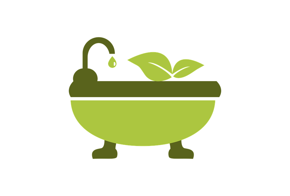 Eco mode green bath vector