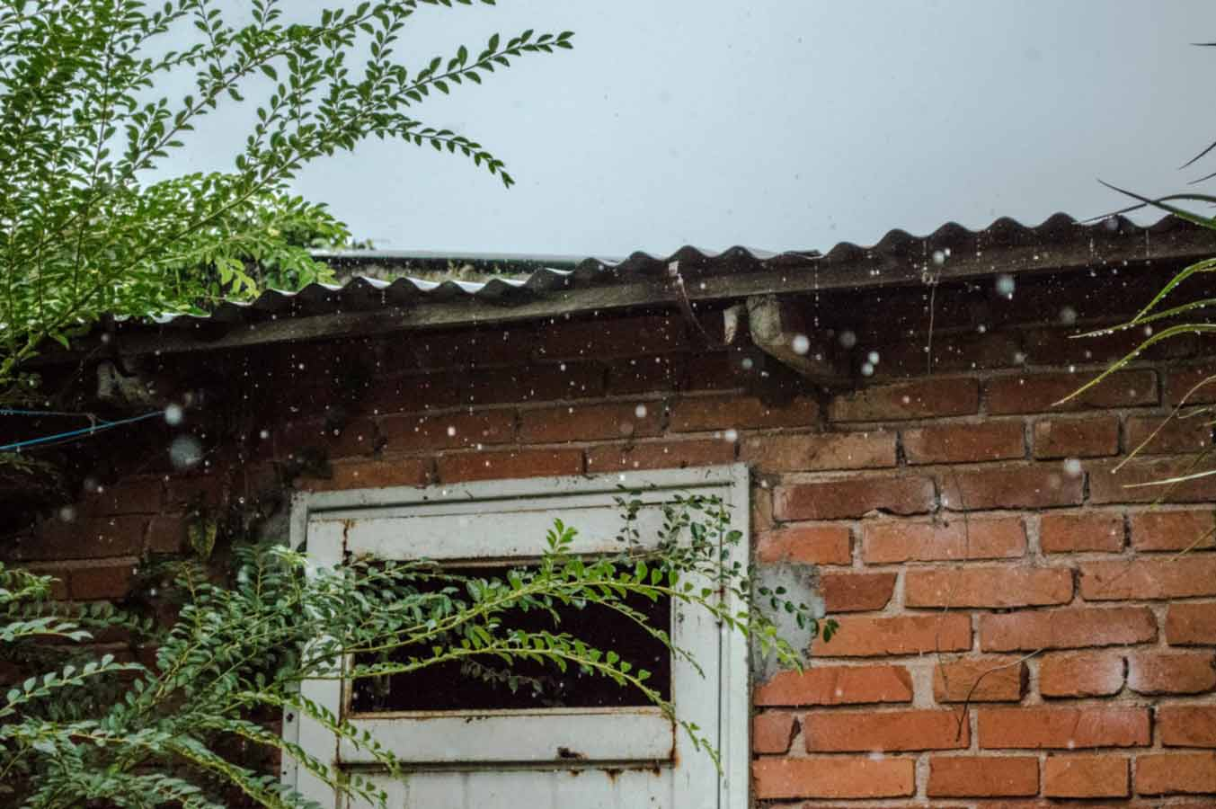 rainwater falling on the roof can damage the house in Birmingham